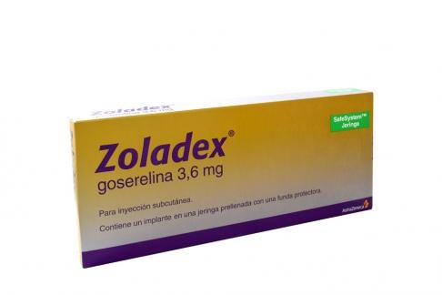 Zoladex 3.6 mg Implante Caja Con 1 Jeringa Prellenada Rx1 Rx4 Rx3