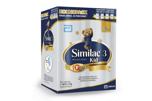 Similac 3 Kid Caja Con 4 Bolsas Con 350 C/U