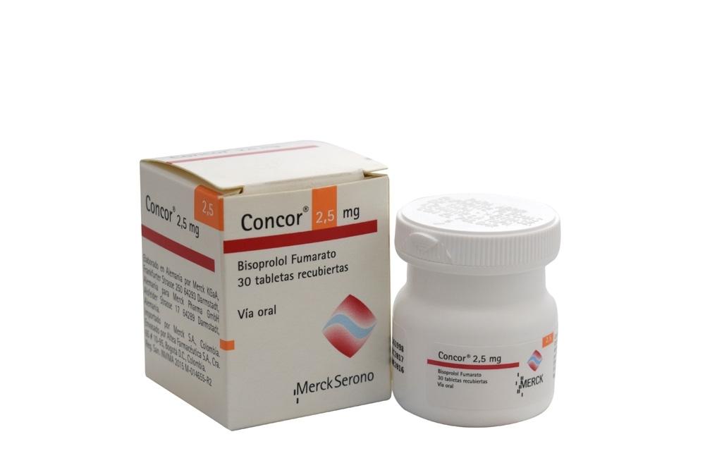 Concor 2.5 mg Caja Con 30 Tabletas Rx Rx1