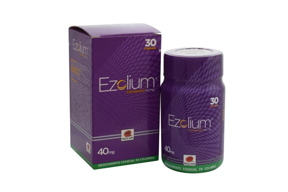Ezolium 40 mg Caja Con 30 Cápsulas Duras Rx