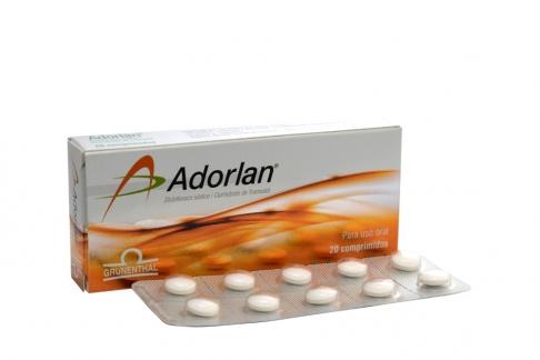 Adorlan 25 / 25 mg Caja Con 20 Comprimidos Rx