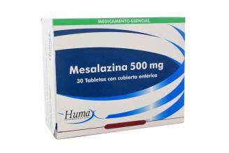 Mesalazina 500 mg Caja Con 30 Tabletas Rx