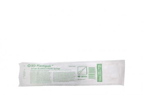 BD Plastipak Jeringa De Plástico 10 mL Aguja 21G x 38mm Empaque Con  Con 10 mL