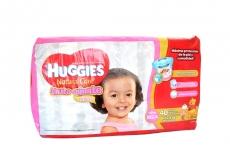Pañal Huggies Natural Care XG Paca Con 40 Pañales - Niñas