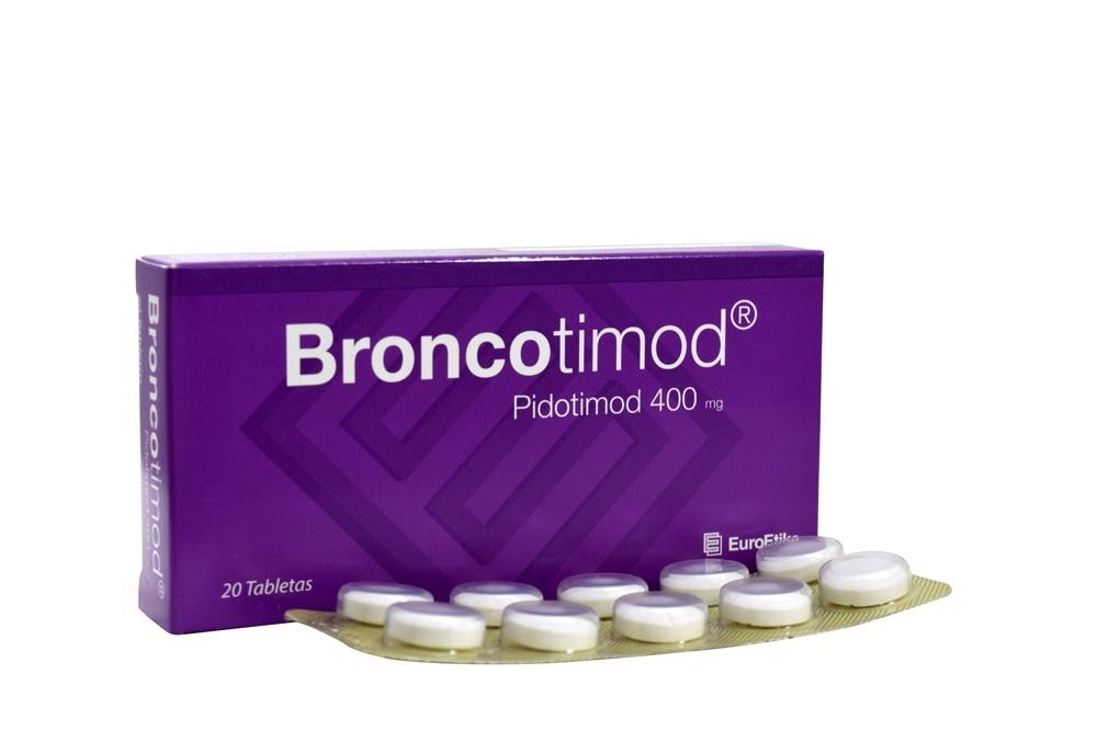 Broncotimod 400 mg Caja Con 20 Tabletas Rx4