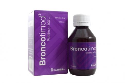 Broncotimod Solución Oral 400 mg Caja Con Frasco Con 120 mL RX