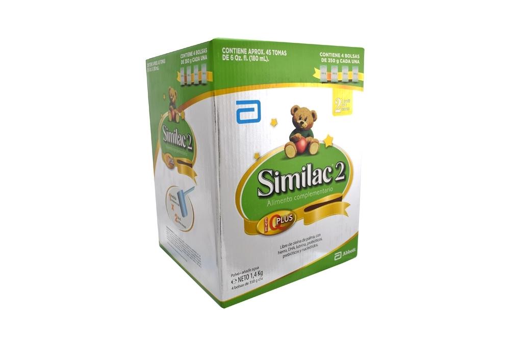 Similac 2 Alimento Complementario Caja Con 4 Bolsas Con 350 g C/U