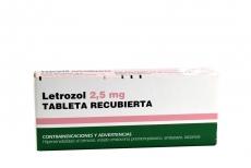 Letrozol 2.5 mg Caja Con 30 Tabletas Recubiertas Rx4
