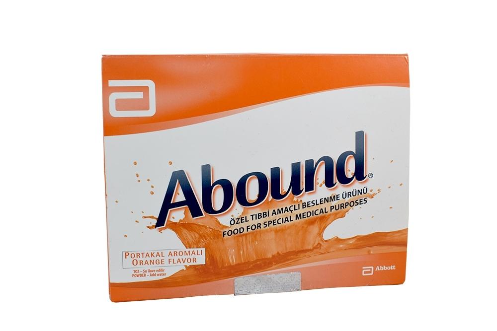 Abound Polvo Caja Con 30 sobres de 24 g C/U - Sabor Naranja