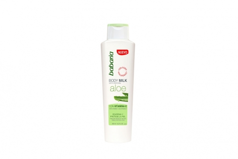Crema Babaria Body Milk Aloe Vera Con Vitamina E Frasco Con 400 mL