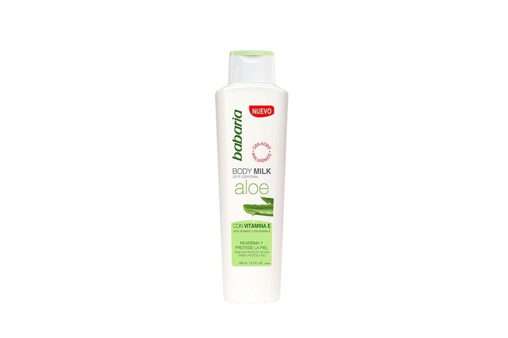 Crema Babaria Body Milk Aloe Vera Con Vitamina E Frasco Con 400 mL