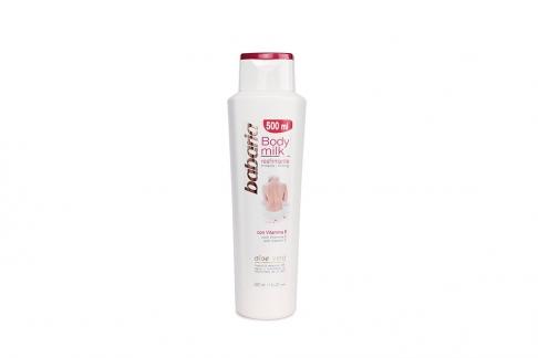 Crema Babaria Body Milk Reafirmante Con Vitamina E Frasco Con 500 mL