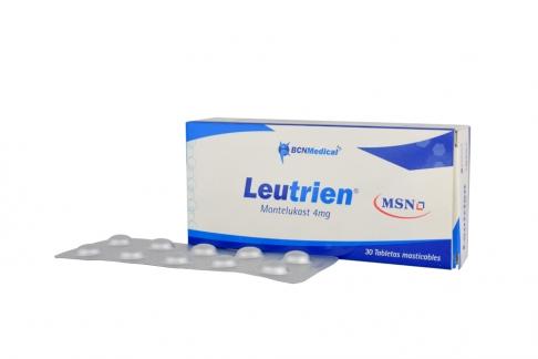 Leutrien 4 mg Caja X 30 Tabletas Masticables Rx
