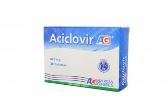 Aciclovir 800 mg Caja Con 30 Tabletas Rx