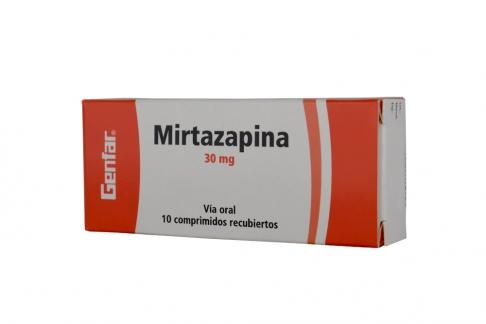 Mirtazapina 30 mg Caja Con 10 Tabletas Rx4
