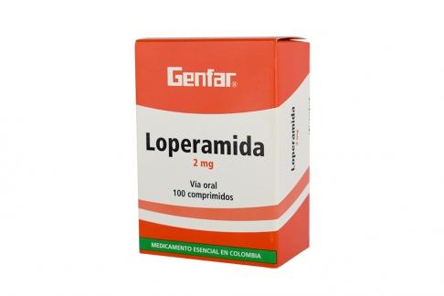 Loperamida 2 mg Caja Con 100 Tabletas Rx