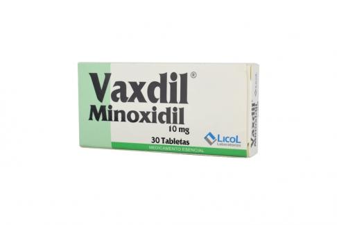 Vaxdil Minoxidil 10 mg Caja Con 30 Tabletas Rx