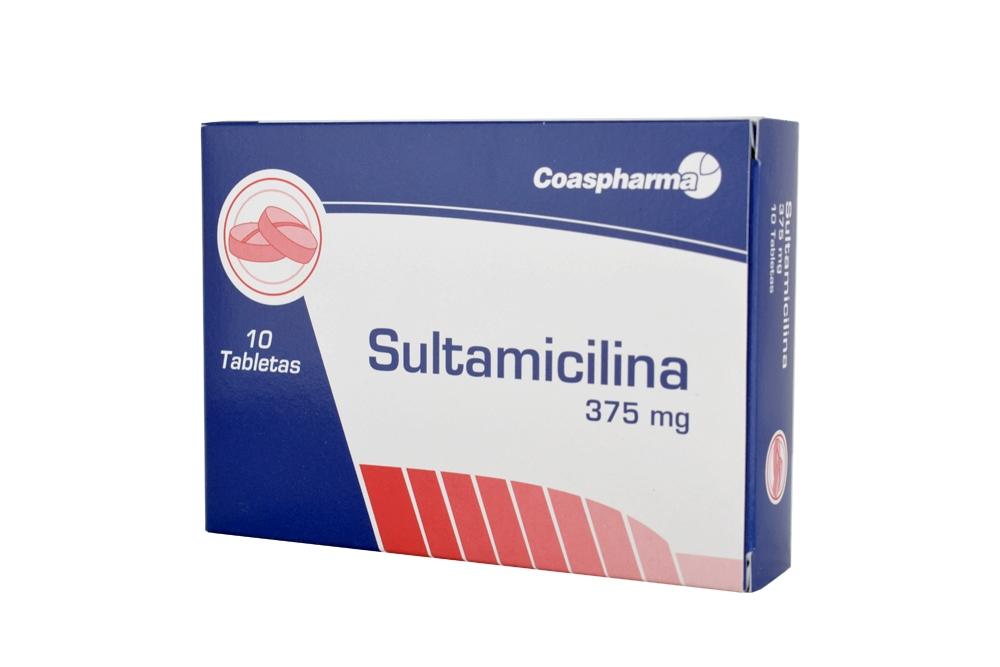 Sultamicilina 375 mg Caja Con 10 Tabletas Rx2