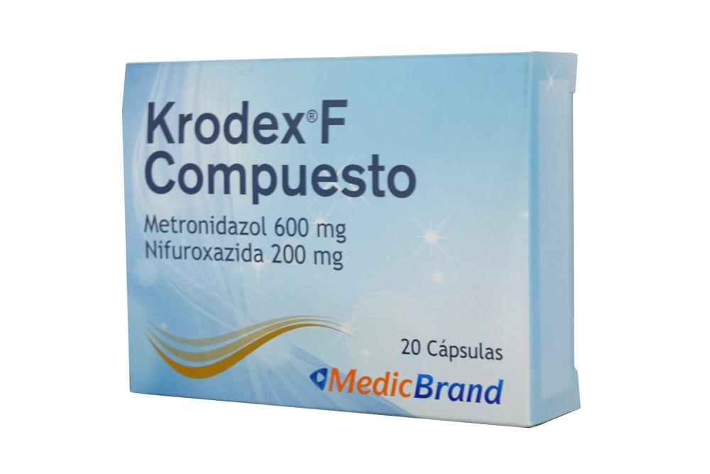 Krodex F Compuesto 600 / 200 mg  Caja Con 20 Cápsulas Rx2
