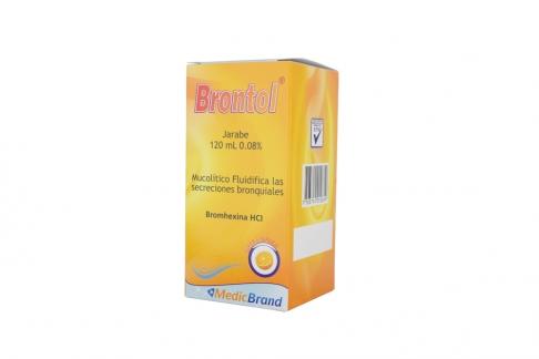 Brontol 0.08% Jarabe Caja Con Frasco Con 120 mL