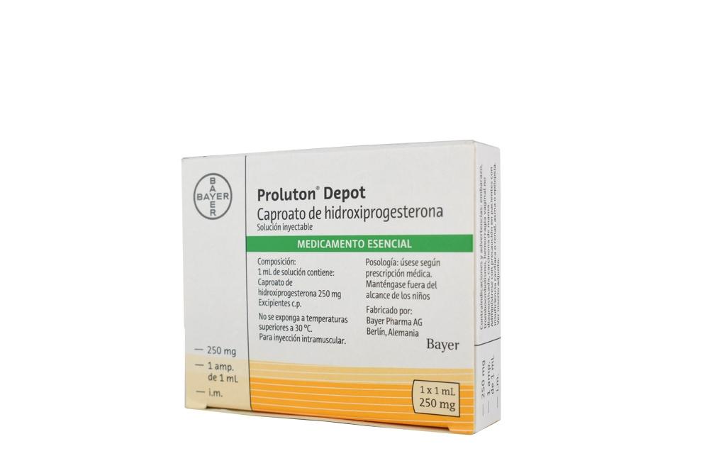 Proluton Depot 250 mg Caja Con 1 Ampolla Rx