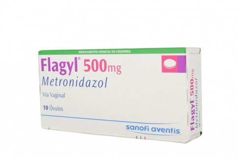 Flagyl 500 mg Caja Con 30 Óvulos Rx2