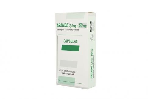 Aranda 2.5 / 50 mg Caja Con 30 Cápsulas Rx4