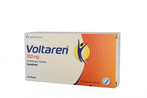 Voltarén 100 mg Caja X 5 Supositorios Rx