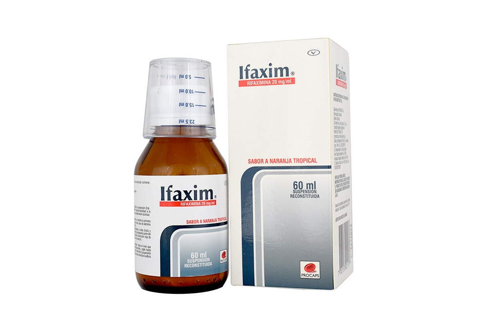 Ifaxim 20 mg Frasco Con 60 mL Suspensión Rx4
