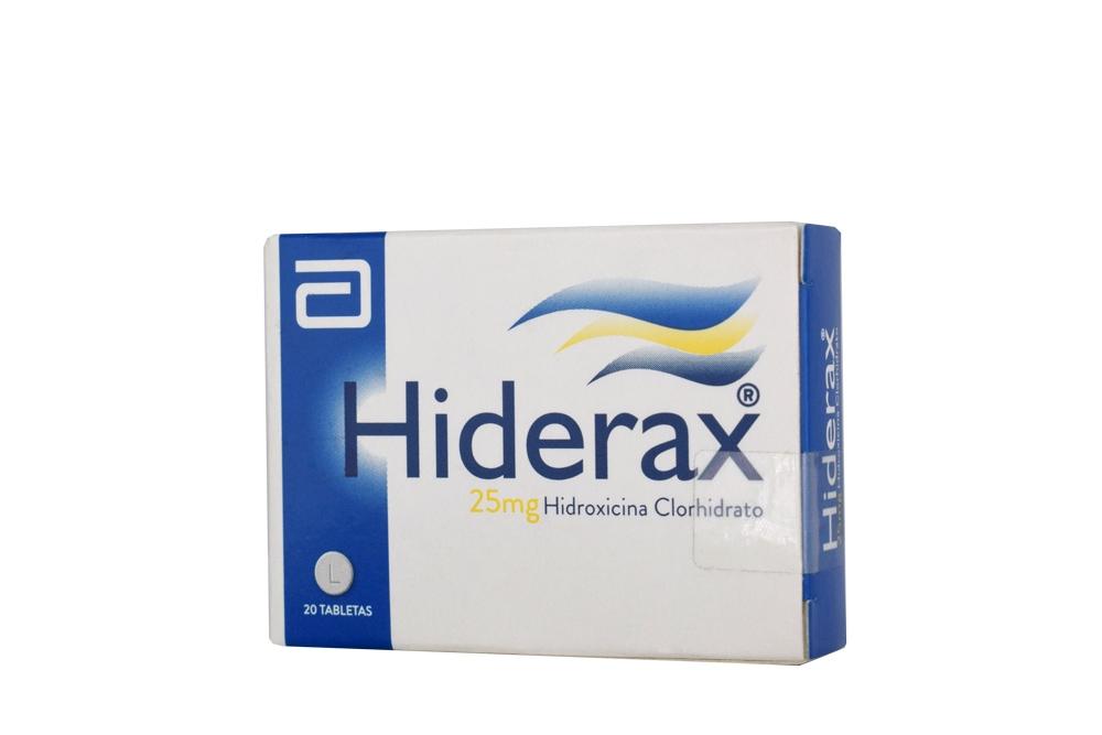 Hiderax 25 mg Caja Con 20 Tabletas Rx
