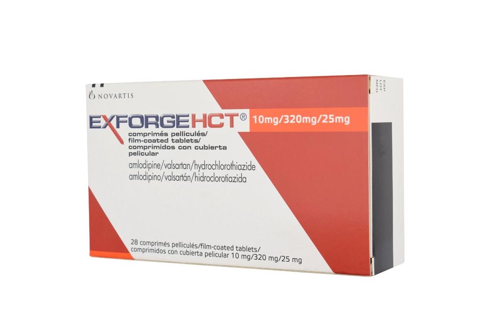Exforge HCT 10 / 320 / 25 mg Caja Con 28 Tabletas Rx