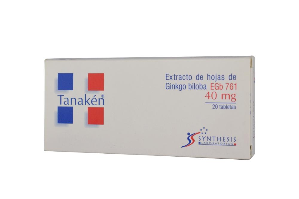 Tanakén 40 mg Caja Con 20 Tabletas Rx