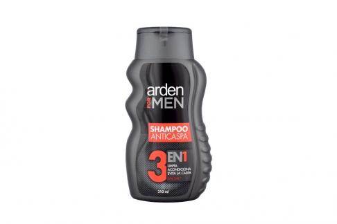Shampoo Arden For Men Anticaspa 3 en1 Frasco Con 310 ml / Prebel