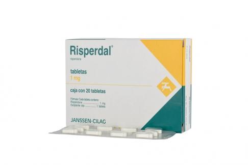 Risperdal 1 mg Caja Con 20 Tabletas Rx4