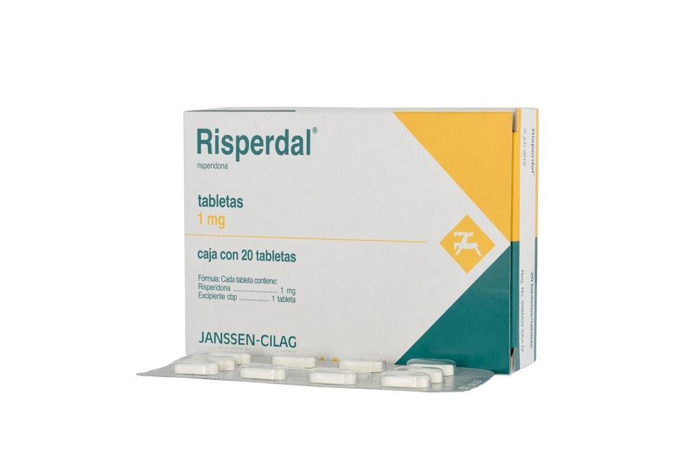 Risperdal 1 mg Caja Con 20 Tabletas Rx4  Rx1
