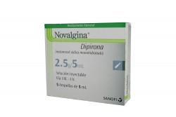 Novalgina Inyectable 5 mL Caja Con 5 Ampollas Rx
