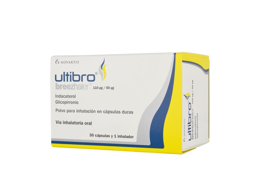 Ultibro Breezhaler 110 / 50 mcg Caja Con 30 Cápsulas Rx4