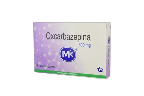 Oxcarbazepina Mk 600 mg Caja Con 10 Tabletas Cubiertas Rx