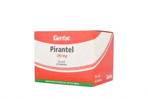 Pirantel 250 mg Caja Con 60 Tabletas Rx