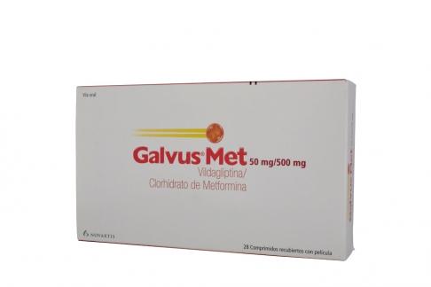 Galvus Met 50 mg / 500 mg Con 28 Comprimidos Recubiertos Rx4 Rx1