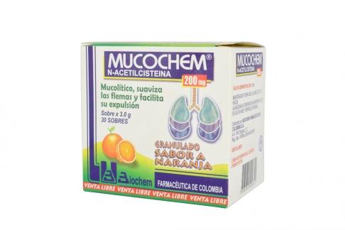 Mucochem Adultos 200 mg Caja Con 30 Sobres