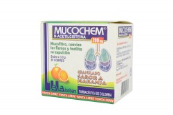 Mucochem 200 mg Caja Con 30 Sobres Con 3.0 g C/U – Sabor Naranja