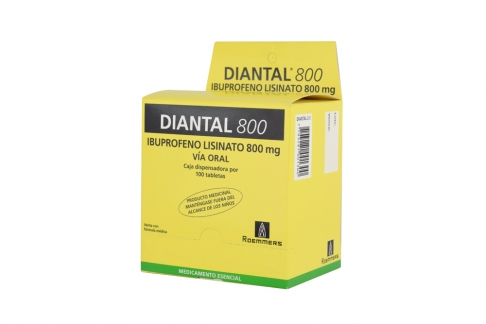 Diantal 800 mg Caja Dispensadora Con 100 Tabletas RX