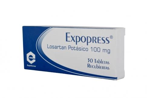 Losartán 100 mg Caja Con 30 Tabletas Recubiertas Rx4