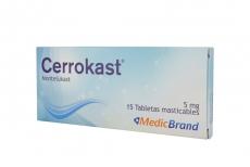 Cerrokast 5 mg Caja Con 15 Tabletas Masticables Rx4