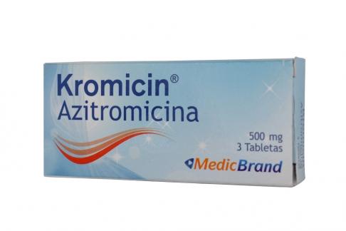 Kromicin 500 mg Caja Con 3 Tabletas Rx2