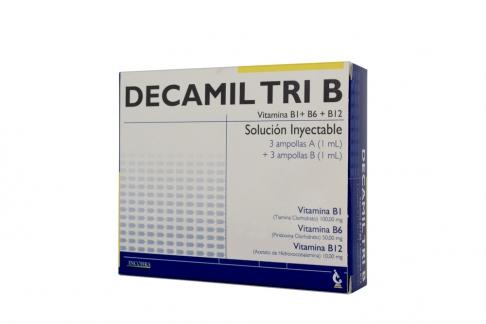 Decamil Tri B Caja Con 3 Ampollas Rx