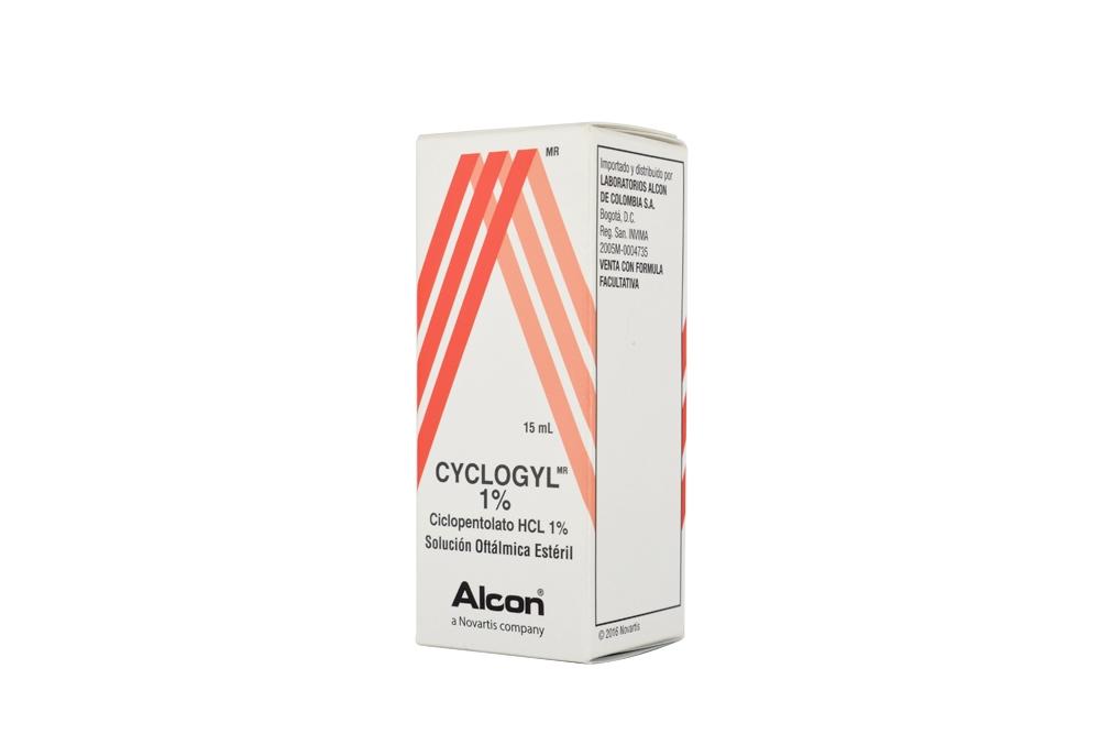 Cyclogyl 1% Ciclopentolato HCL Solucion Caja Con Frasco Con 15 mL RX