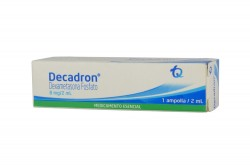 Decadron 8 mg / 2 mL Caja X 1 Ampolla Rx