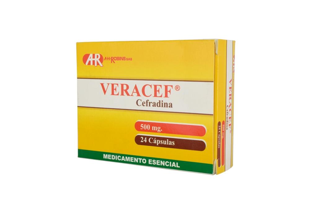 Veracef 500 Mg Caja Con 24 Cápsulas Rx
